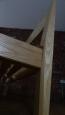 Bed headboard leg