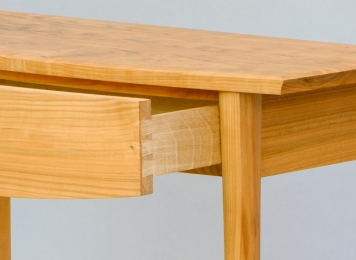 Cherry table drawer detail