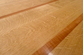 Contrasting oak & pear showing the silver grain of the oak and ripple of the pear: tactile and beautiful