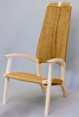 Leaf chair design inspired by organic form