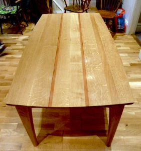Full Oak and Pear wood Dining room table