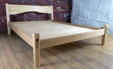 Ash double bed with knock down mortice and tenon joints for ease of assembly and several lifetimes' use
