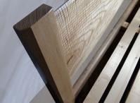 Ripple ash headboard from a Sheffield grown tree - outstanding