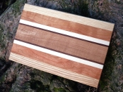 Breadboard from (L-centre) ash, black cherry, sycamore, black walnut, brown oak these are available to buy November to December only