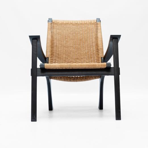 Leaf Chair scorched oak Sam Ring Furniture